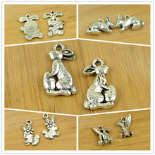 rabbit alloy pendant charms animal shape antique silver hot choker bracelet DIY jewerly accessories making finding free shipping
