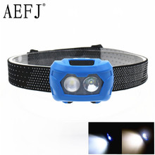 1000lm Waterproof 3W 2*LED AAA Q5 Headlamp Headlight Fishing Camping Riding Outdoor Lighting Head Lamp 30 degree Rotate 3 Modes