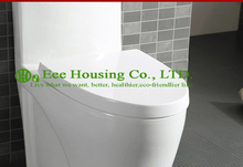 Wc Toilet With Dual Flush Ceramic One Piece , Siphon Flushing,Bathroom Sanitary Wares Chinese Wc Toilet