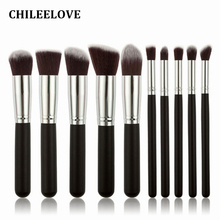 CHILEELOVE 10 Piece Pce/Set Base Cosmetics Makeover Makeup Brushes Kit For Women Foundation Blending Blush Powder Eyeshadow Tool(China)