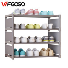 WFGOGO Simple Shoe Cabinets Ironwork Multi-layer Assembly of Shoe Rack with Modern Simple Dustproof Shoe Cabinet 50cm Hight(China)