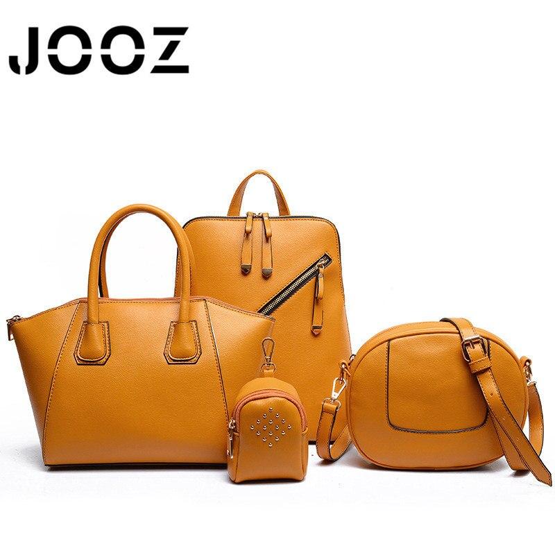 2018 New Luxury Woman Handbags 4 Pcs Composite Bags Set Women Shoulder Crossbody Saddle Frame Bag Female Wallet Purse Clutch<br>