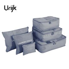 Urijk 6Pcs/lot Travel Storage Bags Set For Clothes Tidy Laundry Pouch Suitcase For Clothes Home Closet Container Organizer(China)