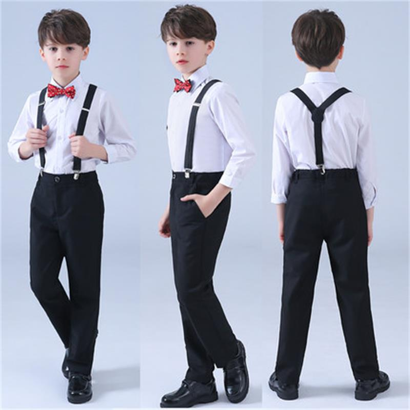 High quality children's suits harness vest pants suit boys primary and middle school students group costumes summer