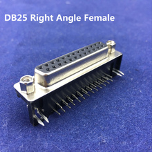 High Quality DB25 Right Angle Female PCB Connector 25 Pin 2 ROWS RS232 Serial Port Connector Socket Interface(China)