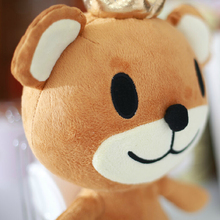 12''30cm Korean TV The King of Fashion Plush Toy Cute Bear with Crown Plush Toy  Kids Gift