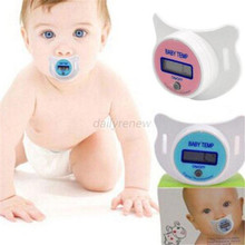 Practical Baby Infant Newborm Kid LCD Digital Safety Health Mouth Nipple Dummy chupeta para Pacifier Thermometer Temperature(China)