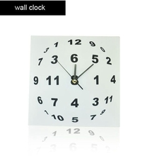 Modern Style Wall Clocks Square Shape Clocks for Home Relogio De Parede Free Shipping