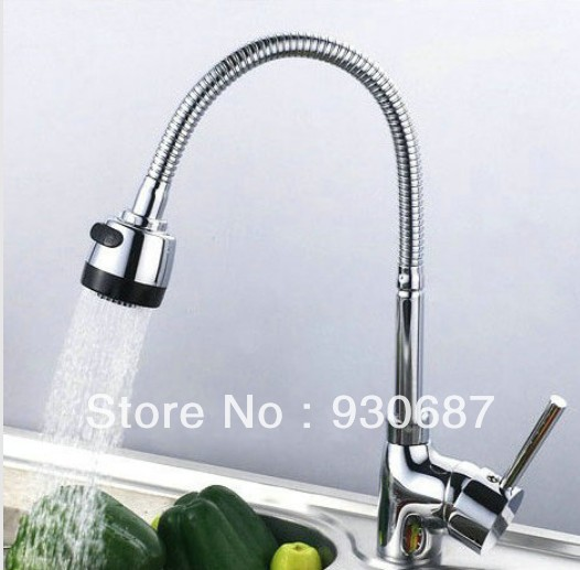 Kitchen Sink Faucet With Plumbing Hose All Around Rotate Swivel 2-function Water Outlet Mixer Tap Faucet<br><br>Aliexpress