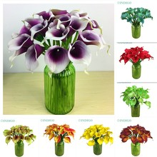 INDIGO- Calla Lily Mini Size PU Real Touch Calla Home Decorative Flower Artificial Flower Wedding Flower Party Hotel Calla Lily