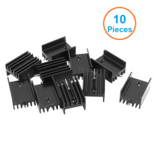 10pcs/lot Black Aluminum 21*15*11mm TO-220 TO220 heatsink radiator for MOS,7805 Triode Transistors Cooler IC Chip dissipation