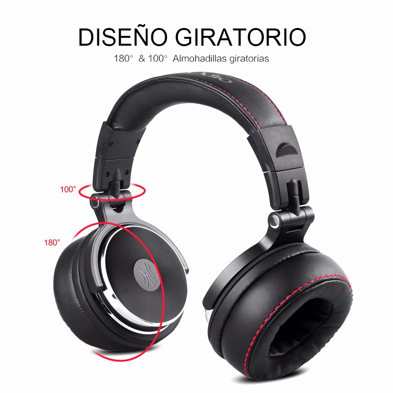 Professional Studio Headphones Wired with Microphone (4)