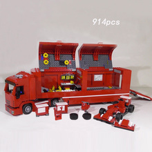 Racing team Speed champion F14 T & Scuderia Italy horse brand truck building block racer figures bricks 75913 toys for kids gift(China)