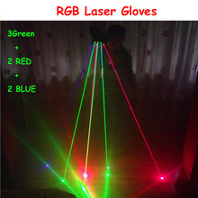 New product RGB laser glove for  Stage Show Party with 7pcs lasers (2pcs Red +3pcs Green +2pcs Blue)
