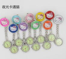 Hot Selling Nurse Watch, Hello kitty Luminous Dial Nurse Watch, 100pcs/lot Wholesale, Fast Delivery(China)
