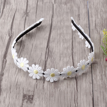 New Candy Cute Children Girls Hair Bands Women Solid Daisy Flower Headbands Kids Chrysanthemum Headwear Hair Accessories