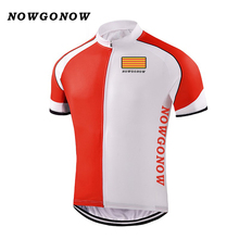 Man 2017 cycling jersey Catalonia falg bike clothing wear tops team pro rider bicycle outdoor sport NOWGONOW custom ciclismo