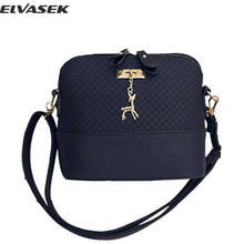 Elvasek hot sale fashion women messenger bags ladies leather handbag women shell handbags shopping bags shoulder bag DL0046