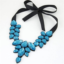 New Fashionable women temperament jewels fake collar temperament short necklace lace ribbon clavicle chain  3193