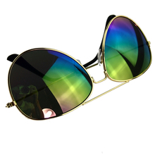 Super Fashon Hot Style Sunglasses Reflective Lens Gold Silver Frame Metal+ Resin UV400
