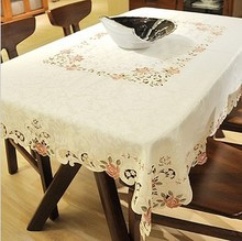 Quality luxury fashion embroidery table cloth small peones table cloth gremial tablecloth