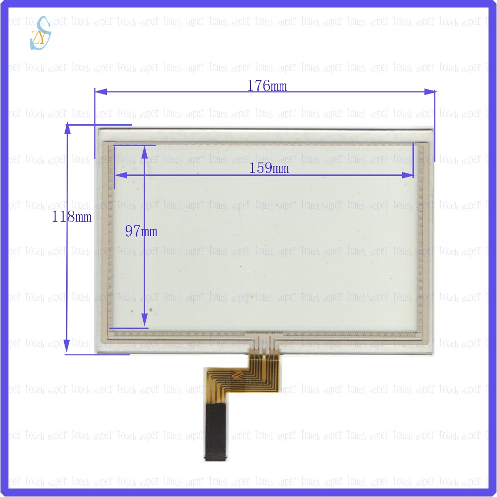 ZhiYuSun 2PCS/Lot For kunluntongtai cnbbison 176mm*118mm KDT-5175 7inch Touch Screen glass  resistive<br>