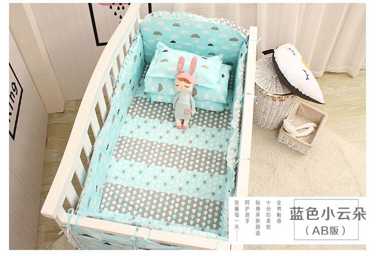Acquista set biancheria da letto neonato in cotone set culla bebè