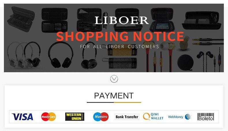 liboer earphones headphones storage case shopping notice