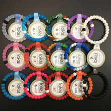Free Shipping 2017 New arrival colors black and white  lokai bracelets for women and men find your balance Jewelry