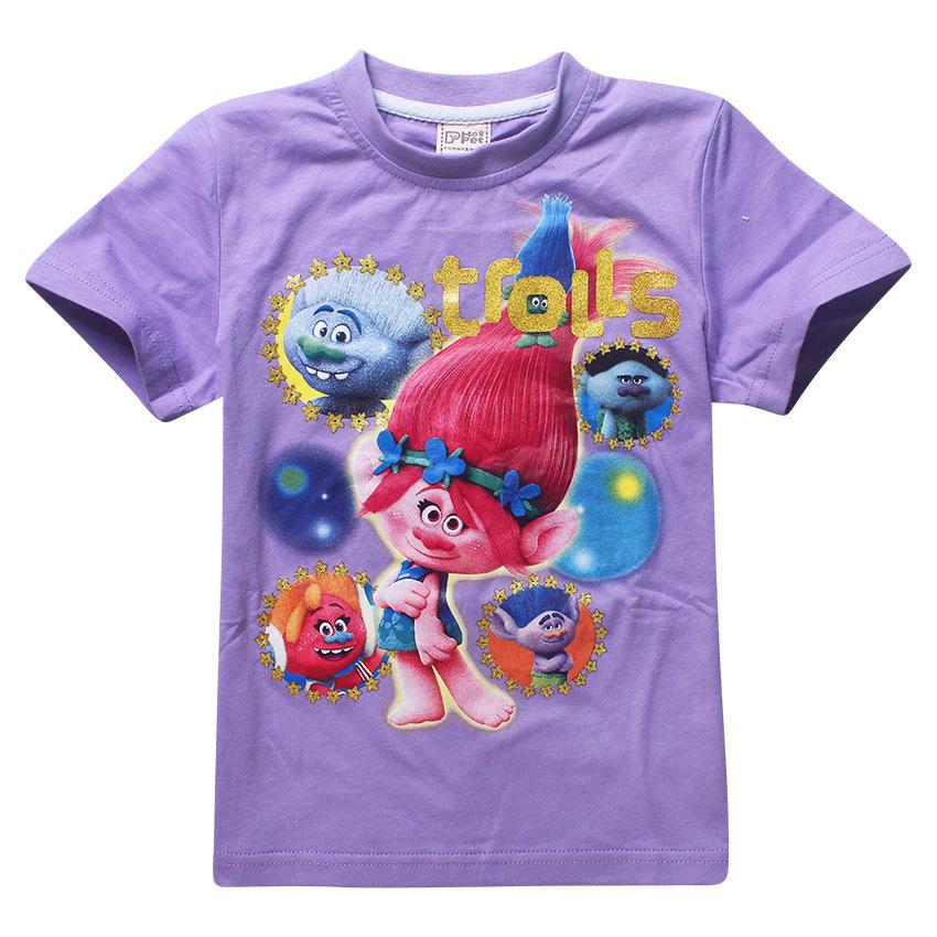 Maui Moana little girl t shirts cartoon character printing t-shirt girls clothing kids Cute pattern costumes 4 6 8 10 12 years 8