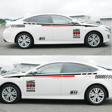 Car Auto Decoration Racing Car Sticker Waist Line Racing Stripes Decal Emblem Waterproof Stickers