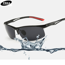 VEGA Classic Sports Sunglasses Polarized 2017 Cool Military Glasses For Police Biker Driving Aluminum Magnesium Frame 8134