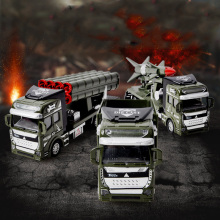1:48 Diecast Metal Truck Military Vehicle Pull Back High Simulation Alloy Toys Rocket Missile Cars Models Toys For Kids(China)