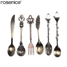 6pcs Vintage European Palace Tableware Coffee Accessories Set Royal Dinnerware Dessert Forks for Sweet Snacks(China)