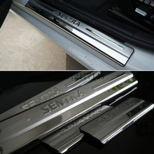 Car Styling for Nissan Sentra B17 accessories 2012 2013 2014 2016 stainless steel auto door sill protector scuff plate guard