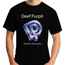 2017 New Brand O Neck Tshirt Western Style 100 % Cotton T Shirt For Men Deep Purple Perfect Strangers T-Shirt