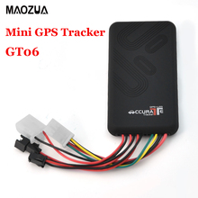 Auto car Mini GPS tracker GT06 GPS+LBS locator remote control cut off power/fuel car alarm system device GPS tracking monitor