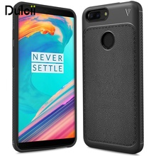 dulcii case for OnePlus 5T cover Litchi Texture PU Leather Skin TPU Shell for OnePlus 5 T Mobile phone coque funda cases(China)