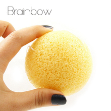 Brainbow 1piece Konjac Sponge Beauty Essentials 100% Natural Konjac Puff Facial Pore Cleaner Washing Sponge Face Skin Care Tools(China)