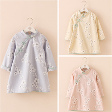 Free shipping,Hot sale clothes children clothing for the girls,chinese style,Summer,Casual,girl Qipaos cheongsam dress,Kids wear