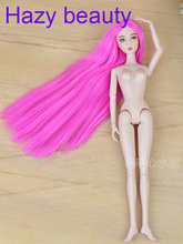 Hazy beauty Red hair Original Chinese Nude Doll / White Skin 14 Joints moveable /with head and body For Xinyi doll BBI00XY6(China)