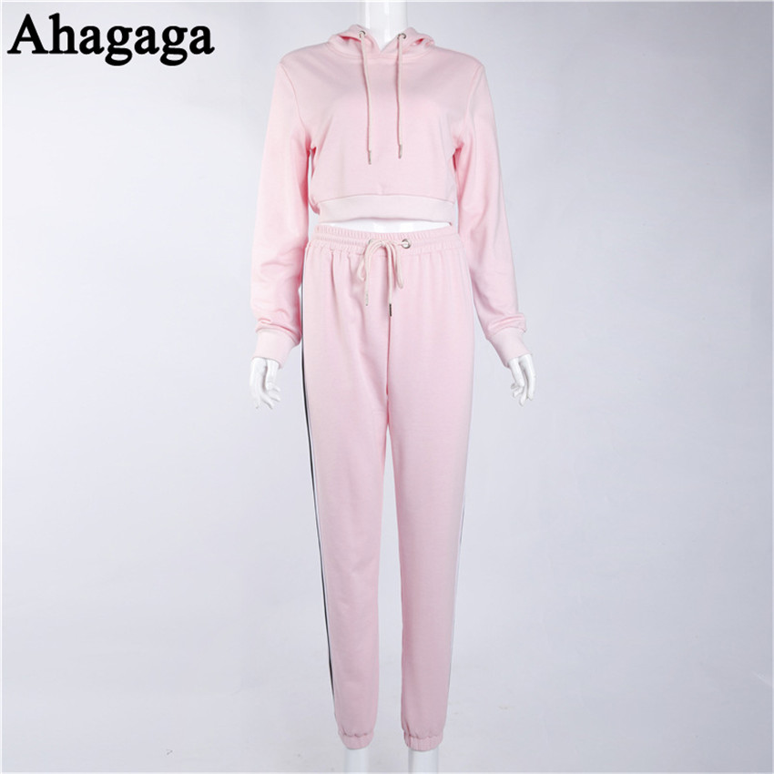 Women's Tracksuits Set, Casual Hooded Sweatsuit Set 36