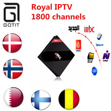 H96 Pro+Android 6.0 TV BOX Amlogic S912 Octa core 3GB 32GB STB Sweden IPTV Scandinavian Europe Turkish Kurdish Arabic  IPTV