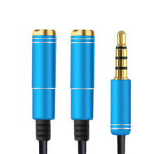High Quality 3.5mm Jack Headphone+Mic Audio Splitter Gold-Plated Aux Extension Adapter Cable Cord for Phone Computer Microphone