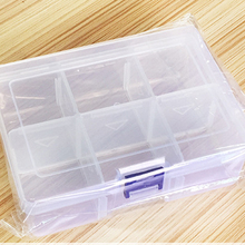Large Plastic Storage Box Compartment Firm Adjustable Finishing Desktop Accessories Parts Containers