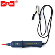 WHDZ 12V Smart Digital Battery Tester Voltmeter Alternator Analyzer with 6 LED display for Car Motorcycle Boat(China)