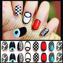 1 Set DIY magic style false nails Fake nail stickers nail art accessories Acrylic Nail Tips Y2(China)