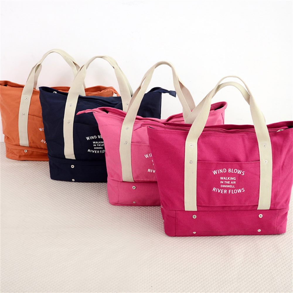 leisure travel canvas bag multi-functional telescopic clothes shoes receive bag shopping Single shoulder bag mummy bag<br><br>Aliexpress