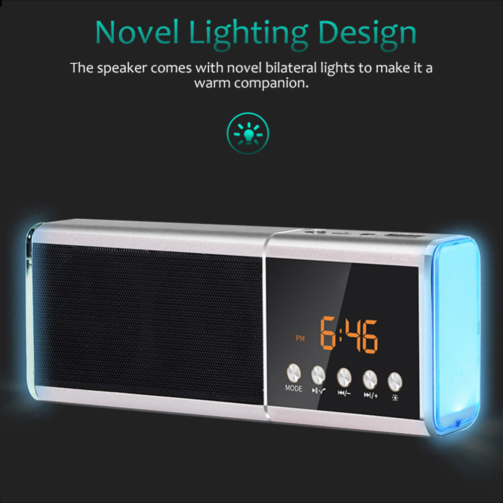 Bluetooth Speaker 4.0 LED Bluetooth Speaker Portable Wireless Loudspeaker Sound System Stereo Music Surround Bluetooth Receiver