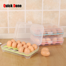 QuickDone 15Grid Egg Storge Box Food Container Organizer Convenient Storage Boxes Multifunctional Crisper Kitchen Tools CKA37